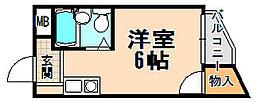 兵庫県伊丹市野間6丁目の賃貸マンションの間取り