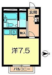 ガジェットハウスI[1階]の間取り