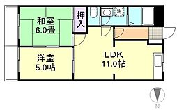 プロニティ林[1階]の間取り