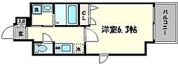 ファーストステージ心斎橋EAST 5階1Kの間取り