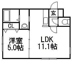 フォルム東札幌[3階]の間取り