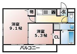 仮称)D-room前原西3丁目[2階]の間取り