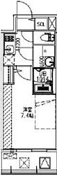 JR大阪環状線 福島駅 徒歩14分の賃貸マンション 4階1Kの間取り
