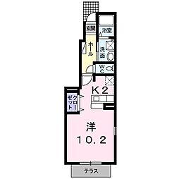 山口県下関市富任町6丁目の賃貸アパートの間取り