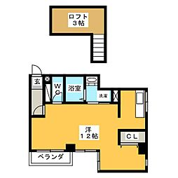 ソレイユ 岩塚[2階]の間取り