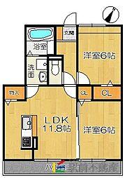 (仮)D-room兵庫北二丁目[202号室]の間取り