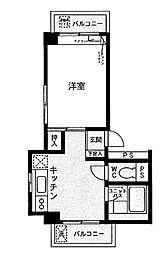 神奈川県相模原市中央区清新3丁目の賃貸マンションの間取り