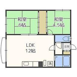 コーポ高桑[1階]の間取り