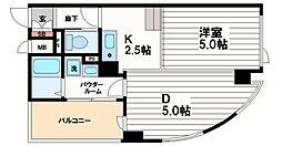 コーコス大阪ビル[4階]の間取り
