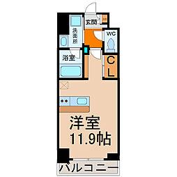 愛知県名古屋市中川区八熊1の賃貸マンションの間取り