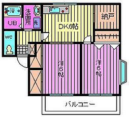 グリーンハイツ松澤[102号室]の間取り