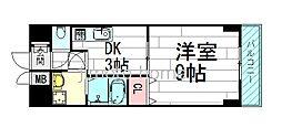 美清館[8階]の間取り