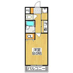 元土御門[2階]の間取り