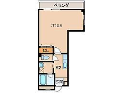 アパートメントMS[2階]の間取り