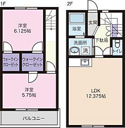 [テラスハウス] 静岡県浜松市中区高林2丁目 の賃貸【静岡県 / 浜松市中区】の間取り
