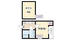 愛知県名古屋市瑞穂区大喜町3の賃貸アパートの間取り