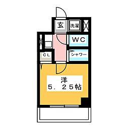 糸徳弥生ハイツ 1階1Kの間取り