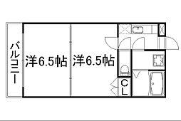 メゾンドイッセイ東寺[2階]の間取り