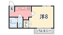 ジュネス城北新町2[3階]の間取り