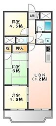 CASA  IKUMATAII[3階]の間取り
