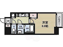 プレサンス大曽根駅前ファースト 6階1Kの間取り