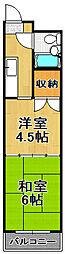 カワオトビル[6階]の間取り