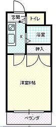 JR山形新幹線 山形駅 バス10分 TUY通り下車 徒歩1分の賃貸マンション 4階1Kの間取り