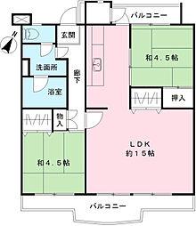 東京都八王子市鹿島の賃貸マンションの間取り