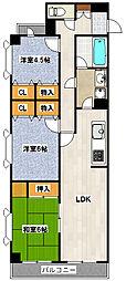 ライオンズマンション第5[301号室]の間取り