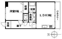 愛知県名古屋市瑞穂区片坂町2丁目の賃貸マンションの間取り
