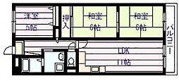 サニープレイス・アオヤマ[1階]の間取り