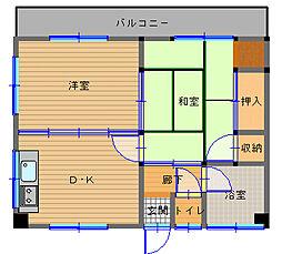 長崎県長崎市西小島1丁目の賃貸マンションの間取り