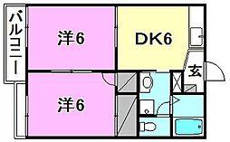 ドエル東山 C棟[103 号室号室]の間取り