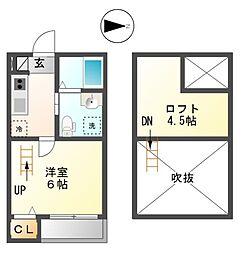カーサプリンチベII[2階]の間取り
