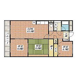 パレスサカモト[4階]の間取り