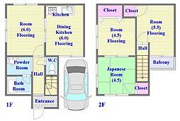 [一戸建] 兵庫県神戸市垂水区泉が丘1丁目 の賃貸【兵庫県 / 神戸市垂水区】の間取り