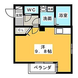 ルシエル氷室III[1階]の間取り