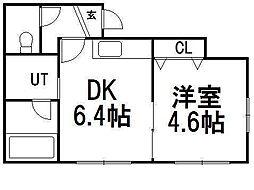 ラ・グラン澄川1番館[2階]の間取り