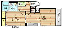 レジデンス酉島[3階]の間取り