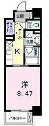 高松琴平電気鉄道琴平線 栗林公園駅 徒歩8分の賃貸マンション 5階1Kの間取り