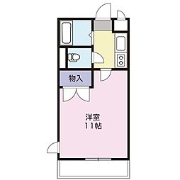 静岡県浜松市中区上島5の賃貸アパートの間取り