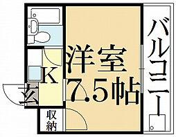 ゾンネ・ハウス[2階]の間取り