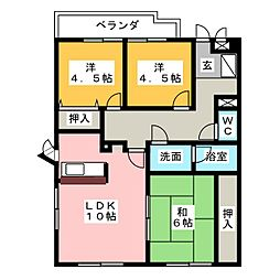 第5田中ビル[4階]の間取り