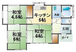 [一戸建] 千葉県東金市中野 の賃貸【/】の間取り