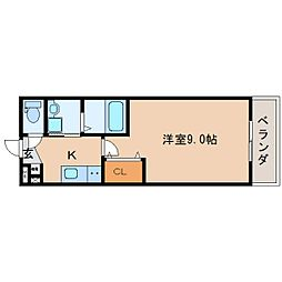静岡県静岡市駿河区小鹿の賃貸マンションの間取り
