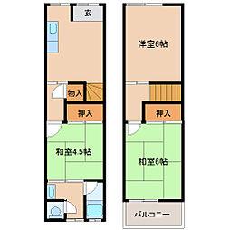 [テラスハウス] 兵庫県尼崎市大庄北1丁目 の賃貸【/】の間取り