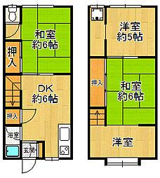 [テラスハウス] 兵庫県尼崎市潮江1丁目 の賃貸【/】の間取り