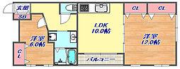 フィレンチェ赤坂2[103号室]の間取り