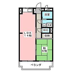 駒場コーポ[3階]の間取り