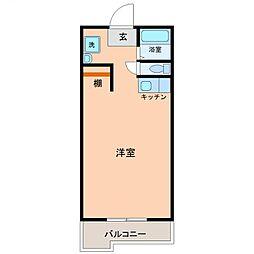 サンケイマンション第9ビル[202号室号室]の間取り
